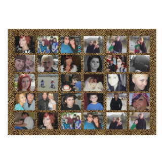 Make It Cheetah 30 Picture Instagram Photo Collage Poster