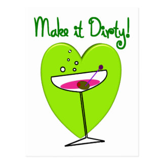 Make it Dirty--Martini Lovers Gifts Postcard