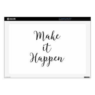 Make It Happen Cursive Script Skins For Laptops
