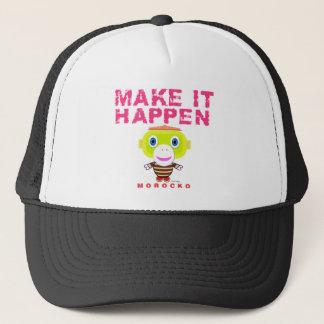 Make It Happen-Cute Monkey-Morocko Trucker Hat