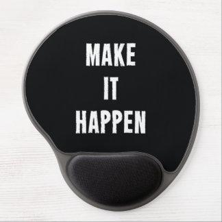 Make It Happen Motivational Black Gel Mouse Pads