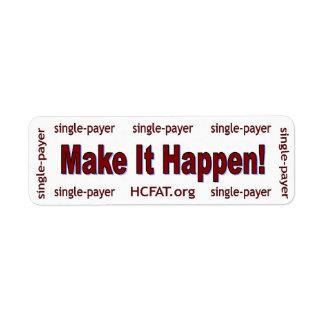 Make It Happen! Sticker Custom Return Address Label