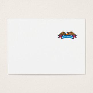 Make It In America Banner Eagle Retro Business Card