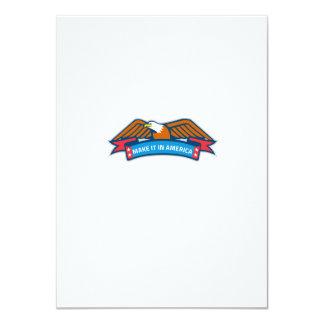 Make It In America Banner Eagle Retro Card