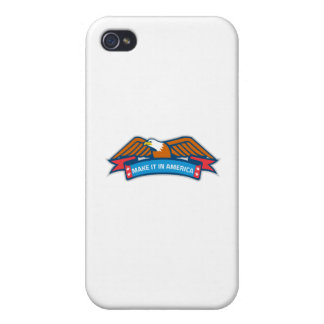 Make It In America Banner Eagle Retro iPhone 4 Case