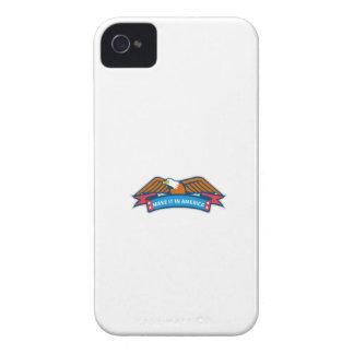Make It In America Banner Eagle Retro iPhone 4 Case