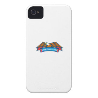Make It In America Banner Eagle Retro iPhone 4 Cover