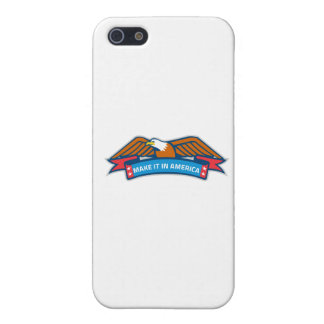 Make It In America Banner Eagle Retro iPhone SE/5/5s Cover