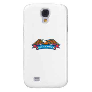 Make It In America Banner Eagle Retro Samsung Galaxy S4 Case