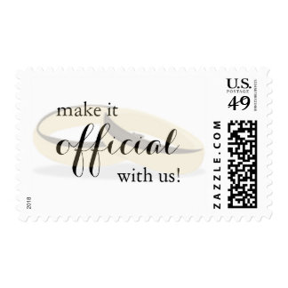 Make it Official (with rings) Wedding Postage
