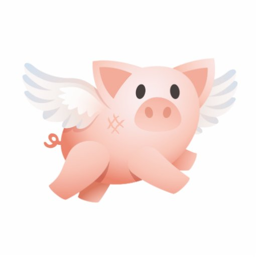Make it Possible 3D flying pig ornament Photo Cut Out