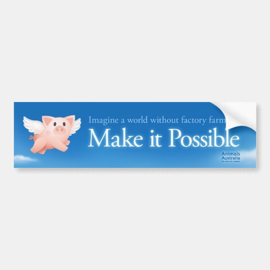 Make it Possible bumper sticker