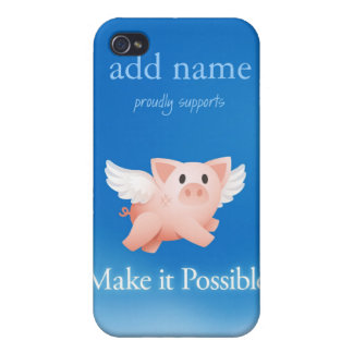 Make it Possible iphone4 tough case (personalized)
