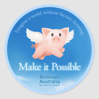Make it Possible sticker large round (6 pack)