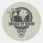 Make it Rain Classic Round Sticker
