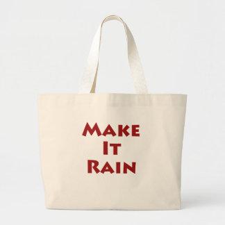 Make It Rain Large Tote Bag