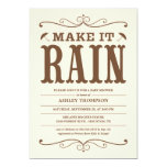 """Make it Rain"" Vintage Baby Shower Invitations"