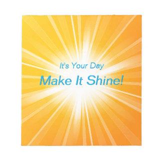 Make It Shine! Notepad