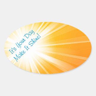 Make It Shine! Oval Sticker