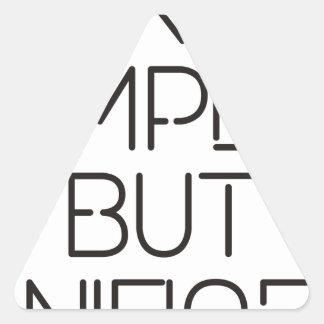 Make it simple. triangle sticker
