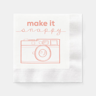 """Make It Snappy"" Napkins for Photographers Paper Napkins"