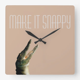 Make it snappy square wall clock