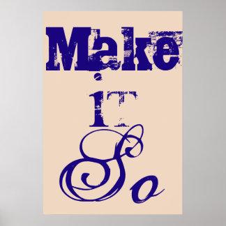 Make It So Poster