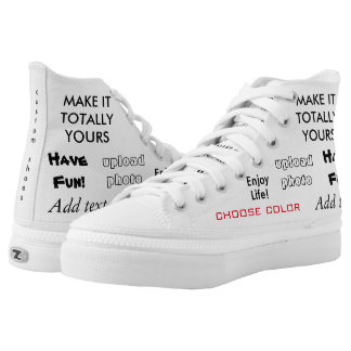 Make it totally yours, upload image add text Shoes