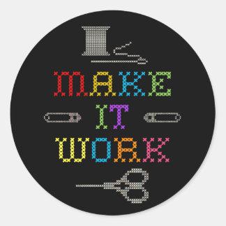 Make It Work Fashion Classic Round Sticker