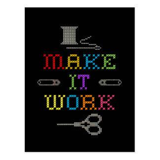 Make It Work Fashion Postcard