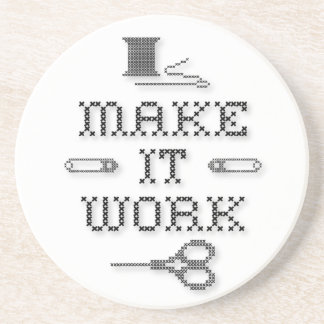Make It Work Fashion Sandstone Coaster