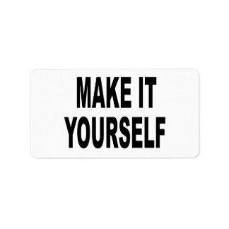 Make It Yourself Address Label