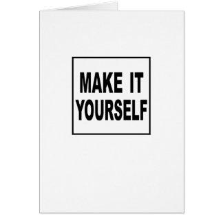 Make It Yourself Custom Greeting Card
