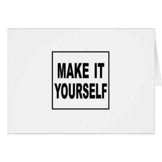 Make It Yourself Custom Note Card