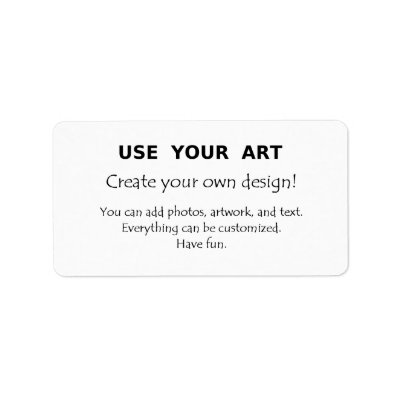 Make it yourself labels stickers use your art