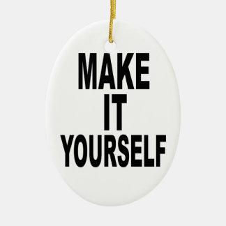 Make It Yourself Oval Ceramic Ornament