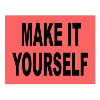 Make It Yourself Postcard Invitation