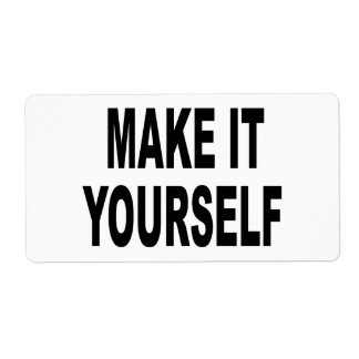 Make It Yourself Shipping Label