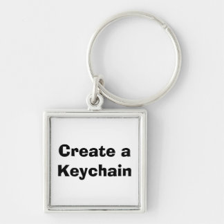 Make it Yourself Square Keychain