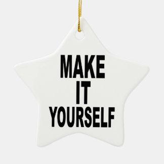 Make It Yourself Star Ceramic Ornament