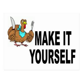 Make It Yourself Thanksgiving Postcard Invitation