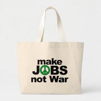Make Jobs, Not War Large Tote Bag
