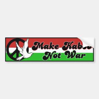 Make Kabob Not War bumper sticker Car Bumper Sticker