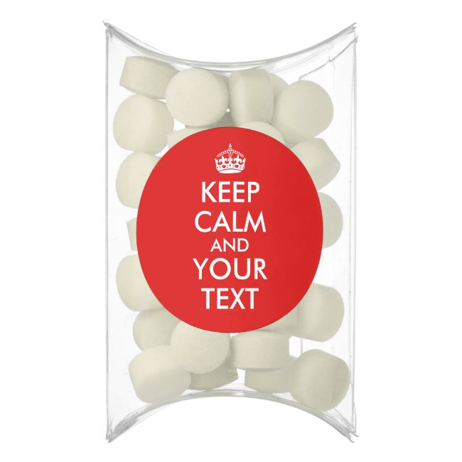Make Keep Calm Party Favors Add Your Words Color