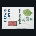 "Make Kimchi! Kitchen Towel<br><div class=""desc"">Celebrate your fermenting love with our kimchi products-- what else can you do when live hands you cabbages?</div>"