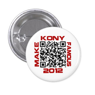 Make Kony Famous 2012 Video QR Code Joseph Kony Pin