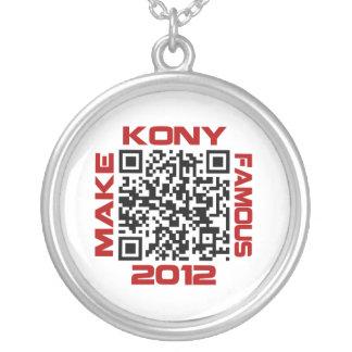 Make Kony Famous 2012 Video QR Code Joseph Kony Necklace