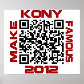 Make Kony Famous 2012 Video QR Code Joseph Kony Print