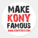 Make Kony Famous - Kony 2012 Classic Round Sticker