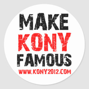 Make Kony Famous - Kony 2012 Classic Round Sticker
